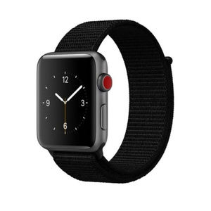NEW BLACK Breathable Strap Loop  For Apple Watch